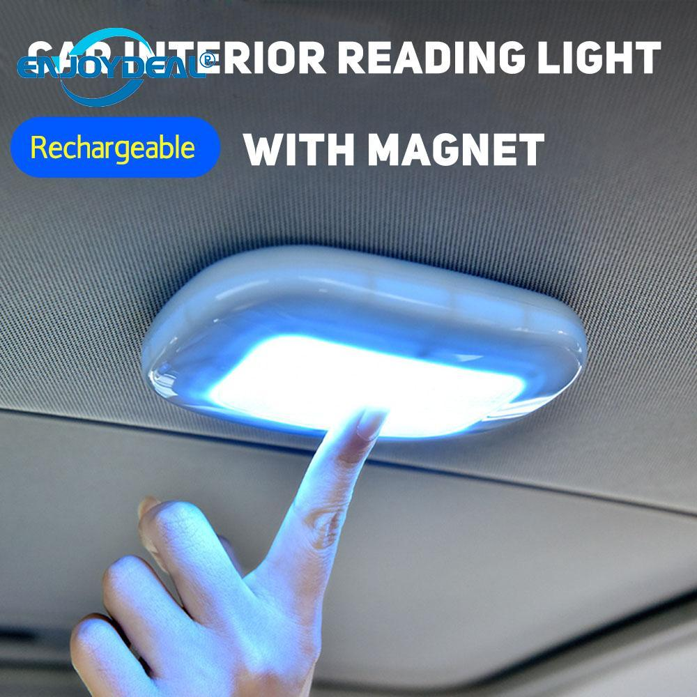 Universal USB Rechargeable LED Reading Light Portable Car Interior Dome Roof Ceiling Lamp  Magnet Adsorption LED Night Light