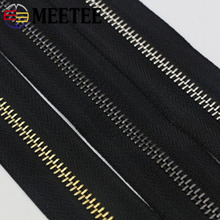 Meetee 2yards 5# Metal Light Gold Copper Tooth Zipper for Clothes Bags Suitcase DIY Sewing Handmade Crafts Accessories AP561