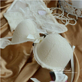 Exquisite Lace Sexy Bra Set with Panties Big Bow Cute Color Block Underwear Lingerie Black White 32 34 36 36C On Sale EBS204