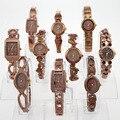 10PCS/Lot Wholesale Mixed Style Coffe Ladies Women Watches Quartz Luxury Dress Fashion Wristwatch Gift JB3T