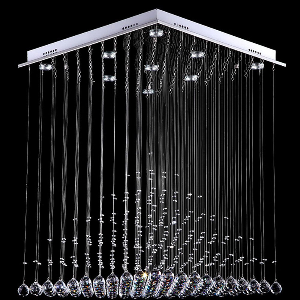 2015 NEW crystal pendant LED crystal pendant living room rectangular atmosphere of modern simple lamps and lanterns RO0108 a1 modern simple led crystal chandelier three head hanging lamps and lanterns lamps and lanterns artistic originality individual