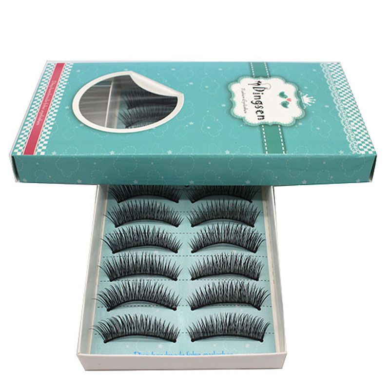 10 Pairs Handmade Thick False Eyelashes Mink Eyelash Winged Eye Lashes Extensions Volumi ...