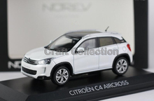White 1/43 Citroen C4 AIRCROSS SUV 2015 Alloy Model Car New Coming Simulation Model 2 Color Available Diecast Mini Vehicle