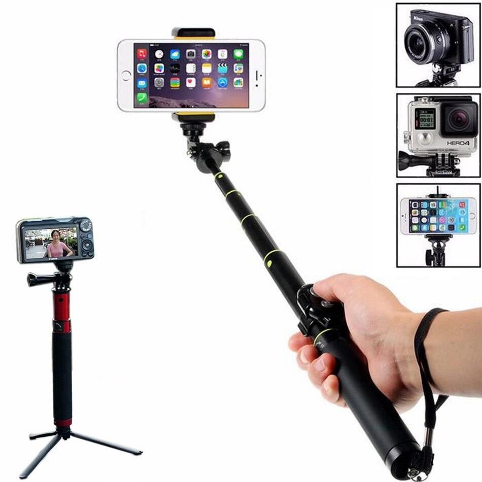 Haute qualité mini portable bluetooth selfie bâton pour iphone android En alliage D'aluminium manfrotto pour gopro xiaoyi SJ caméra