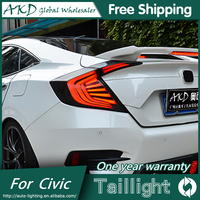 AKD Car Styling Tail Lights For Honda Civic 2016 Taillights LED Tail Lamp Rear Trunk Lamp