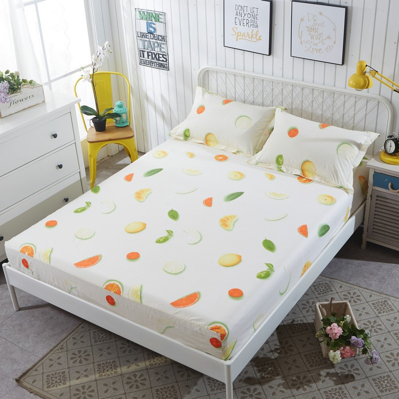 1piece Comfortable Brushed Mattress Cover Soft Pad High Quality Protector For 17colors
