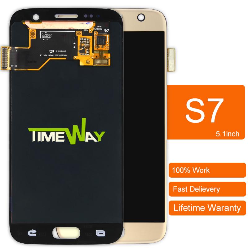 Prix pour Dhl 1 pcs écran lcd avec écran tactile digitizer assemblée pour samsung galaxy s7 g930a g930t g930p g930v