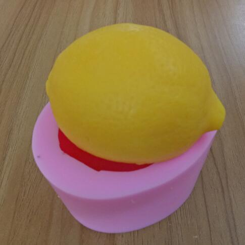 DIY citron fruits de qualité Alimentaire à la main silicone savon bougie de décoration de gâteau moule