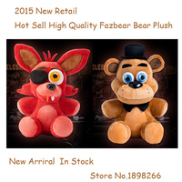 In Stock Hot Sell Five Nights At Freddy's 4 FNAF Foxy Fox Freddy Fazbear Bear Doll Plush Toys 10 Free Shipping