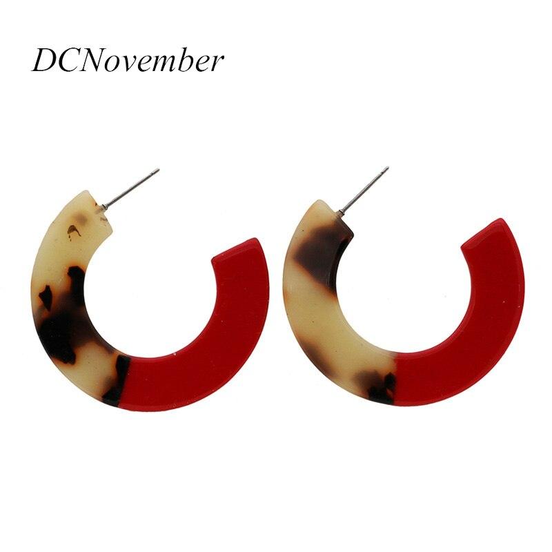 Модные Bronco Broncos Splice Tortoiseshell белые/черные/красные/оранжевые круглые серьги-гвоздики из смолы ацетат женские серьги ювелирные изделия