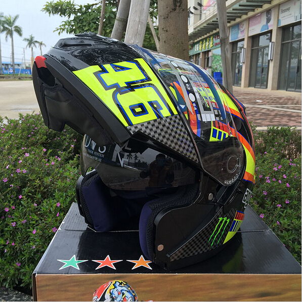 2016 New SHOEI 46# Flip Up motorcycle helmet full helmet Motorcycle Helmet ATV helmet Safety dual lens