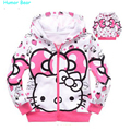 Humor Bear NEW  cartoon clothes,girls sweater 100% cotton sweater girls clothing hoodie free shipping