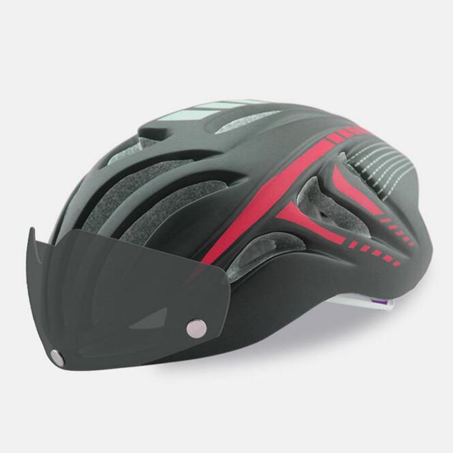 ФОТО 2017 hot Bicycle Cycling Helmets Casco Ciclismo Casque Velo Ultralight Integrally-molded MTB Bike Helmets Magnetic Goggles