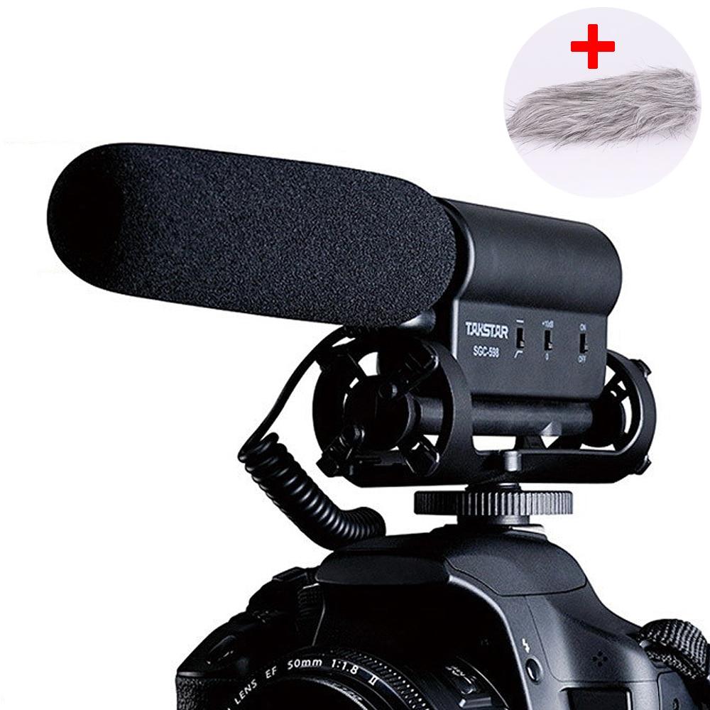 Takstar SGC-598 Photography condenser CCTV 3.5 Mic Live Vlogging Video studio mic Recording Shotgun for Nikon DSLR microphone цена