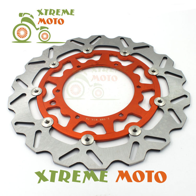 320MM Front Wavy Floating Brake Disc Rotor For KTM EXC GS MX SX SXS MXC XCW EXCF SXF XCF 125 144 150 200 250 300 350 380 400 450 320mm floating motorcycle brake disc disks rotor for ktm duke 125 200 390 duke 2013 2016 motorbike front brake disc disks