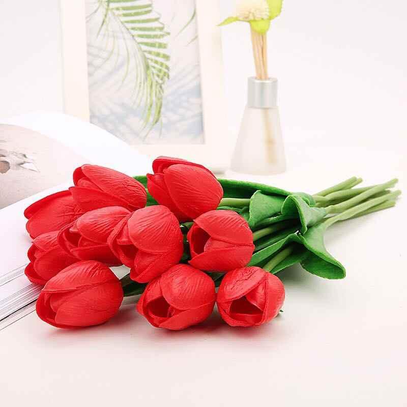 1 шт. Искусственные цветы тюльпаны настоящий сенсорный Искусственный букет из цветов для дома подарок свадебные декоративные цветы