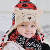 Baby Winter Hat Warm Beanie Cap Hats For Children Kids Girls Animal Cat Ear Kids Crochet