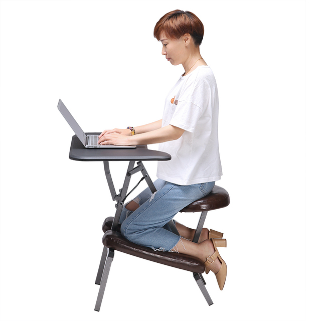 Ergonomic Adjule Kneeling Desk And Combination Chair Mobile Work Station Home Office Furniture Kneed
