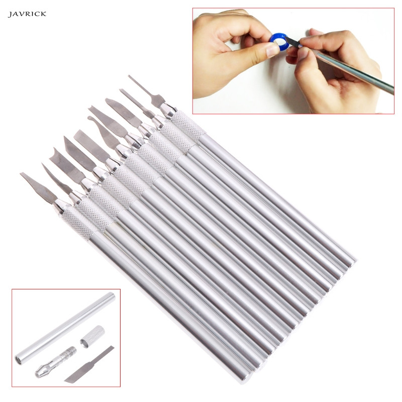 JAVRICK 1 Set Wax Carving Knife Jewelry Sculpture Blade Stainless Steel Laboratory Tools