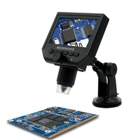 600X 3 6MP USB Digital HD Microscope Portable 8 LED VGA Electronic Video Microscopes 4 3