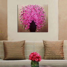 modern fashion decoration oil paitings 3panels knife paintings three color flower free shipping