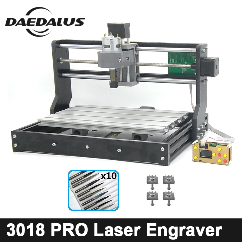 CNC 3018 Pro GRBL Control Diy Mini CNC Machine,3 Axis PCB Milling Machine,Wood Router Laser Engraving,With Offline Controller disassembled pack mini cnc 2418 pro cnc machine pcb milling machine with grbl control l10005