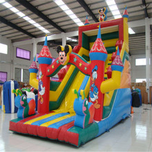 commercial bouncer slide inflatable trampoline castle  CE/UL blower