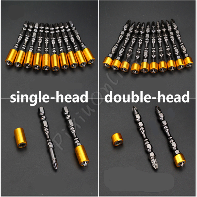 1Pc ST016 Strong Magnetic 65MM Cross Head Screwdriver Bit Double Head High Quality Electric Screwdriver Set PH2 Free Shipping
