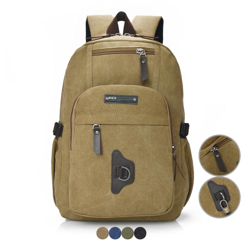 Men Canvas Backpack Student School Bag for Boys Vintage Style Bagpack Laptop Bag Women Rucksack for Girl Casual Men's Travel Bag