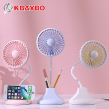 USB Fan Flexible with Desktop Lamp Mobile Phone Holder Desig