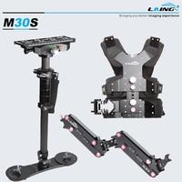 DHL 1-8 KG Obciążenia Laing M30S Steadycam Kamizelka + Podwójny Arm + Włókno Węglowe Stabilizator Steadicamu DSLR kamera Wideo hurtowych