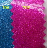 0 2MM Thickness Pink PVC Smooth Face Glitter Decorative Leather Material