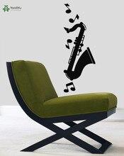 YOYOYU Wall Decal Vinyl Art Removeable Sticker Mural Jazz Music Notes Saxophone DIY Decoration YO464