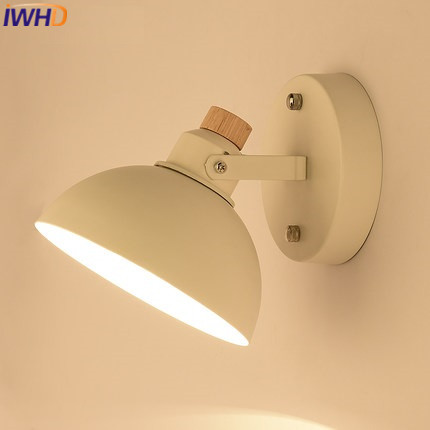 IWHD Angle Adjustable Arm Sconce Wall Lamp Modern Iron LED Wall Light Fixtures Lighting Stairs Lampara Dining arandela Wandlamp
