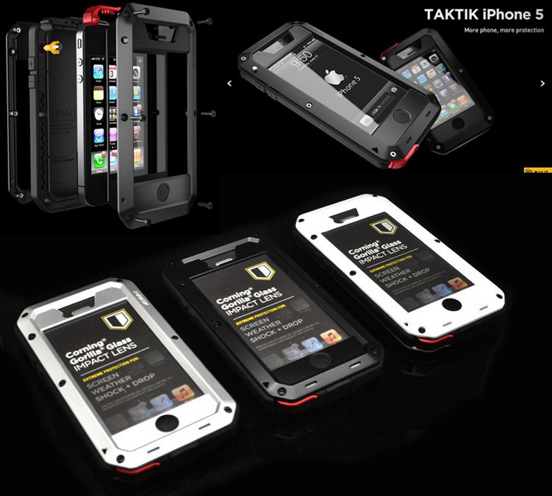 Luxury Dirt proof Shockproof Waterproof Case For iPhone 5 5S SE Heavy Duty Armor Aluminum Metal