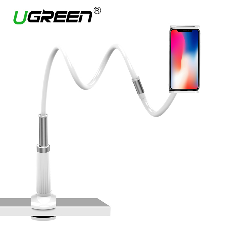 Ugreen Phone Holder Stand for iPhone 8X 360 Rotation Long Arm Mobile Phone Holder for iPad Tablets 3.7-10.6 inches Lazy Holders lazy neck holder stand for iphone desk 360 degree rotation mobile phone mount bracket cell holder stand