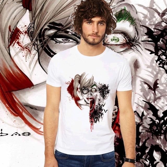 Us 7 14 35 Off Brand Clothing Funny Anime Harley Quinn Suicide Squad Joker T Shirt Print Top Tees Cartoon Batman Vampire Robin Catwoman T Shirt In