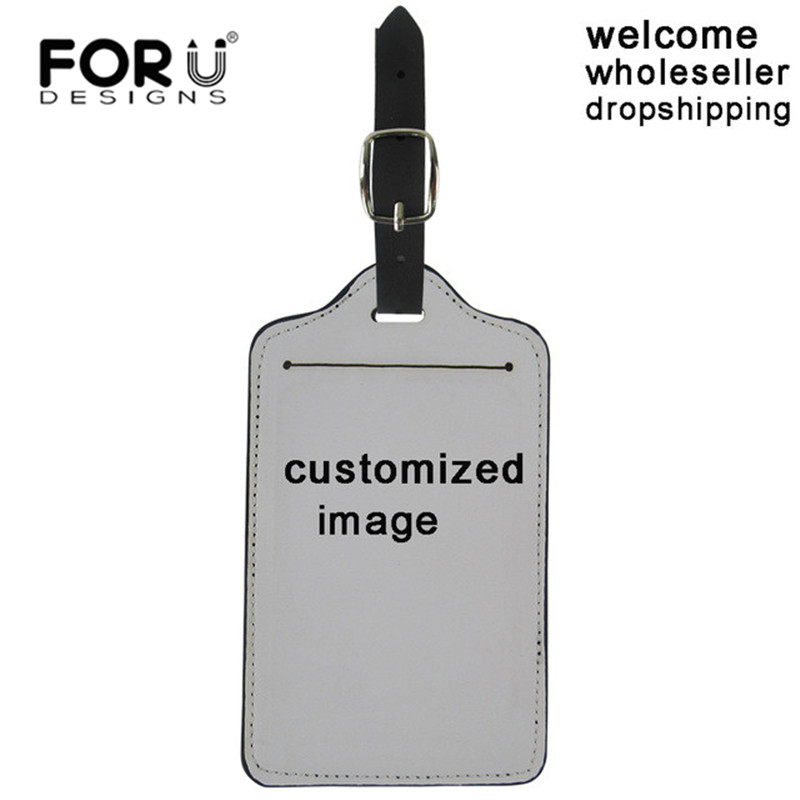 FORUDESIGNS Custom Made Suitcase Luggage Tags Image Logo Pattern Name Address Label ID Holder Travel Accessories Birthday Gifts