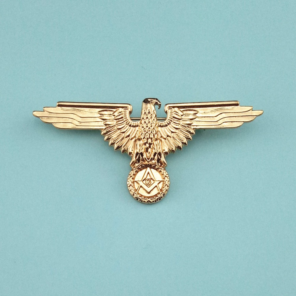 Miglior acquisto ) }}Germany Masonic Badges German Mason Uniforms Medal Golden Metal Pin