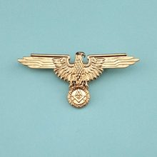 Germany Masonic Badges German Mason Uniforms Medal Golden Metal Pin Badge Europe Freemason Eagle Brooches Creative Insignia(China)