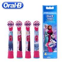 4 Cái/gói Oral B Điện Trẻ Em Đầu Bàn Chải Hoạt Hình Patern Thay Thế Xoay Đầu Bàn Chải Vệ Sinh Răng Miệng Đầu Bàn Chải