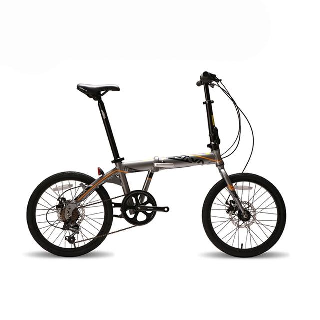 JAVA 20 inch Aluminum Alloy Folding Bike 7 Speed Dual Disc