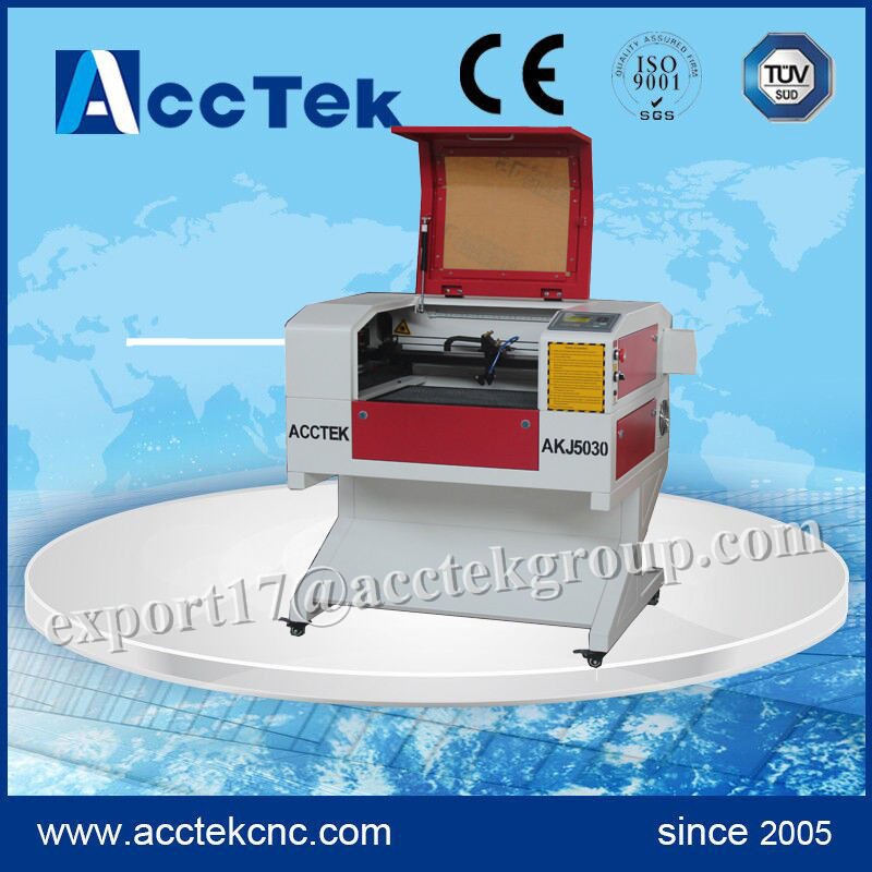 High precision mini 60w 80W mdf co2 laser cutting machine 500 300mm for sale