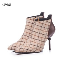 CDAXILAN new arrivals boots women pointed toe shoes sexy high heel ankle ladies motorcycle spring autumn fashion
