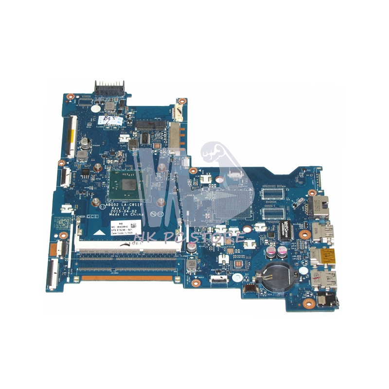 815248-501 Main Board For HP 15-ac 15-ac505tu Sr29h Laptop Motherboard ABQ52 LA-C811P Uma Celeron N3050 CPU 1.6 Ghz DDR3 762526 501 main board for hp pavilion 15 p day22amb6e0 laptop motherboard ddr3 am8 cpu