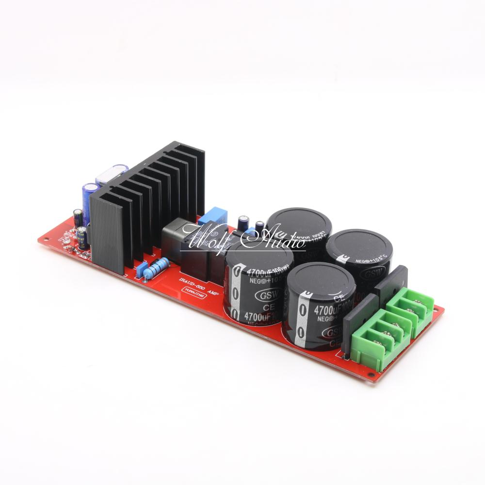 Assemble HiFi IRS2092 Class D Power Amplifier Board Double Rectifier With Protection Circuit Audio Power amp Board irs2092 irfb4019 class d power amplifier board speaker relay protection 300w