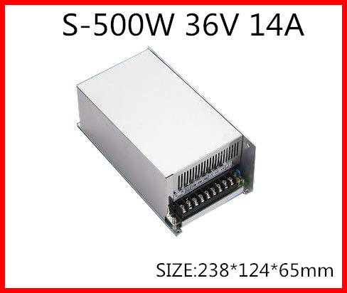 S-500-36 500W 36V 14A  Single Output Switching power supply for LED Strip light  AC-DC jindi 500