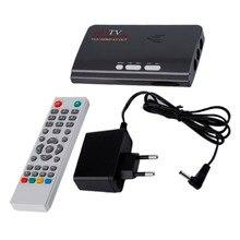 UE Plug Avec CRT et LCD HD 1080 P Avec VGA Version DVB-T2 TV Box AV CVBS Tuner Récepteur Télécommande Chargeur Compatible