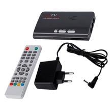 ЕС Plug с crt and ЖК-дисплей HDMI HD 1080 P с VGA версия DVB-T2 TV Box AV CVBS тюнер ресивера Пульт дистанционного Управления Зарядное устройство com P atible