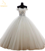 Bealegantom New Quinceanera Dresses Ball Gown 2017 Tulle Beaded Crystal Sweet 15 16 Dresses Vestidos De